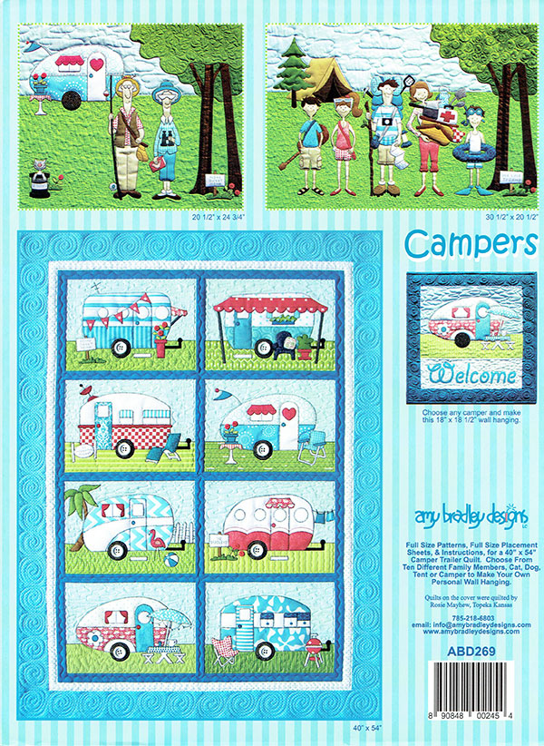 Camper Family Applique Pattern