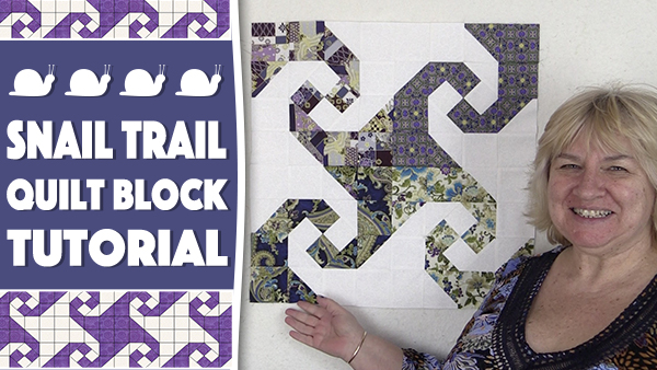 Quilt Block: Snail Trail Quilt Block Tutorial
