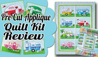 Campers Pre Cut Applique Quilt Kit