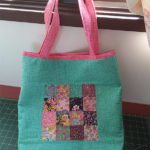 Readers Project: Bel's Improv Checkerboard Charm Square Tote bag