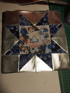 Readers Project: Donna's Variable Star Wedding Photo Queen Size Quilt