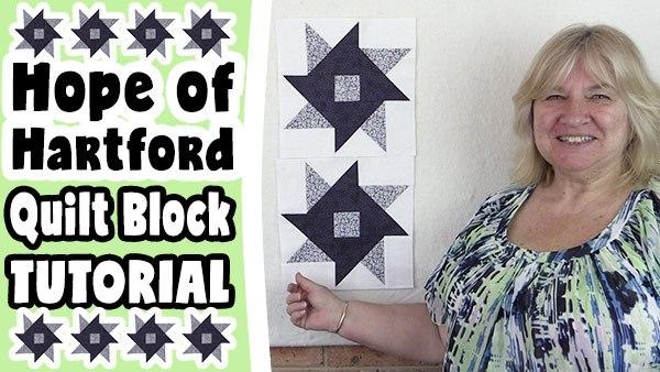 Quilt Block: Hope of Hartford Quilt Block Tutorial