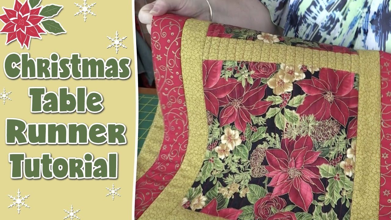 Easy Quilted Christmas Table Runner