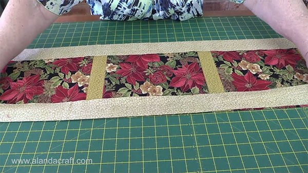 Christmas Table Runners To Make.Easy Quilted Christmas Table Runner Alanda Craft