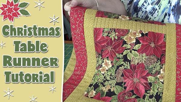 Christmas Table Runner To Make.Easy Quilted Christmas Table Runner Alanda Craft