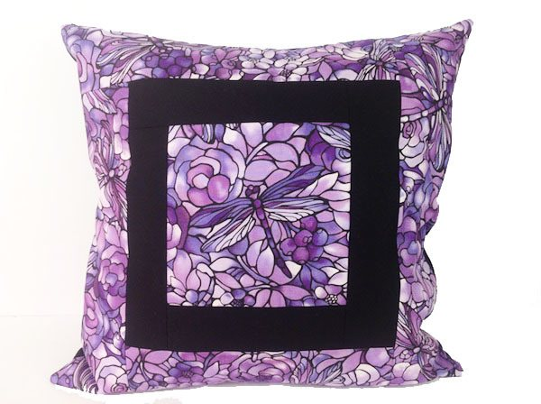 cushion-cover-purple-dragonfly,sewing,craft