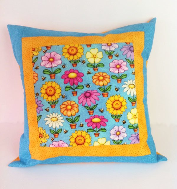 cushion-cover-spring-flowers, sewing, craft
