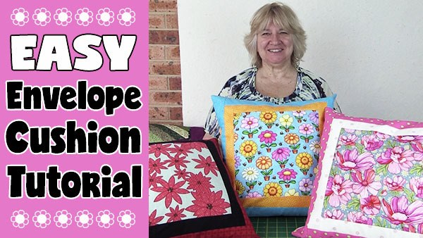 easy envelope cushion tutorial - nice easy sewing project for a beginner