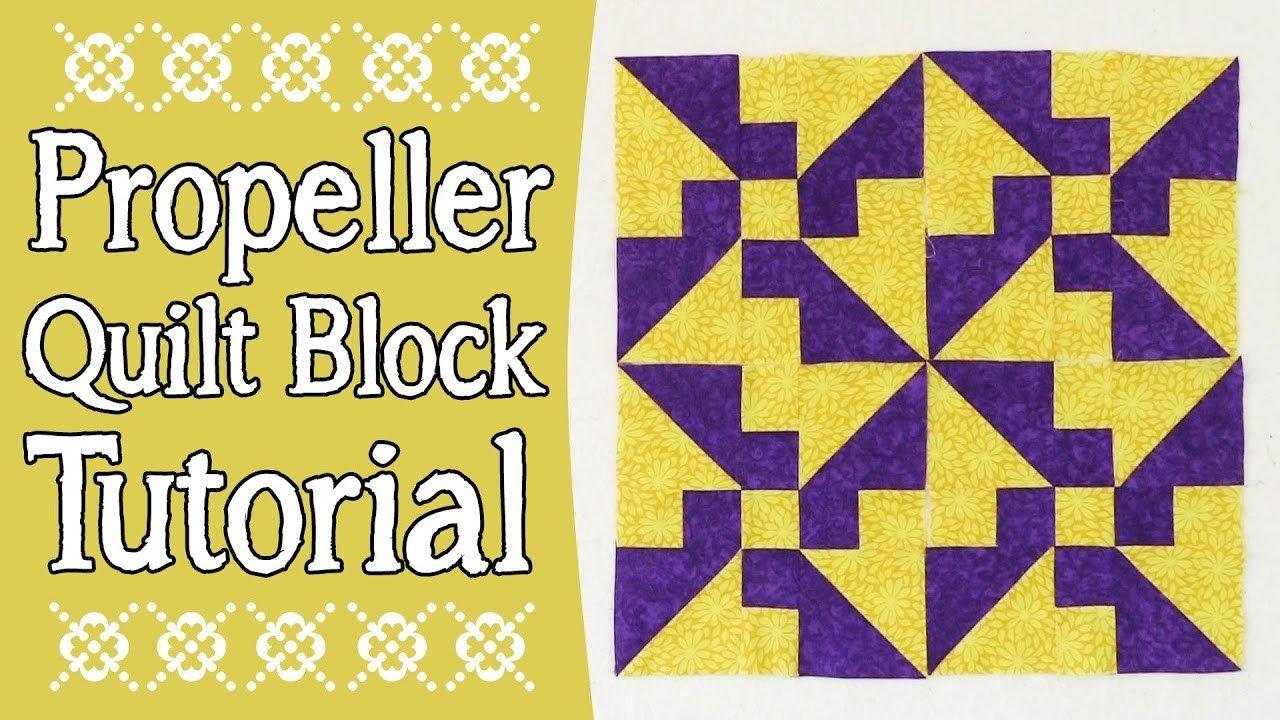 Quilt Block: Propeller Quilt Block Tutorial