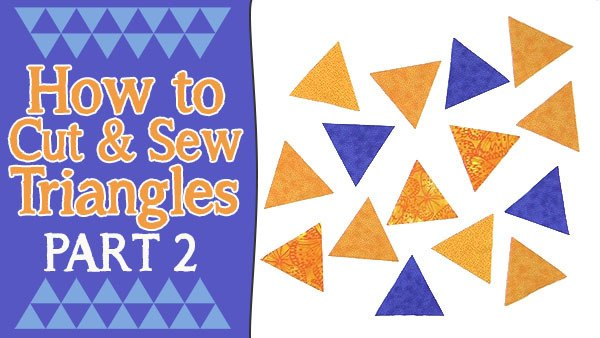 how to sew triangles for quilting