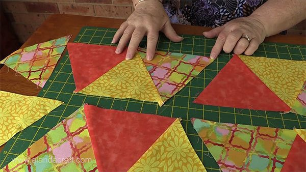 triangle-table-runner,quilting, craft, sewing