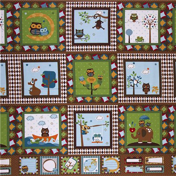kawaii-owls-quilt-panel,quilting,sewing,craft