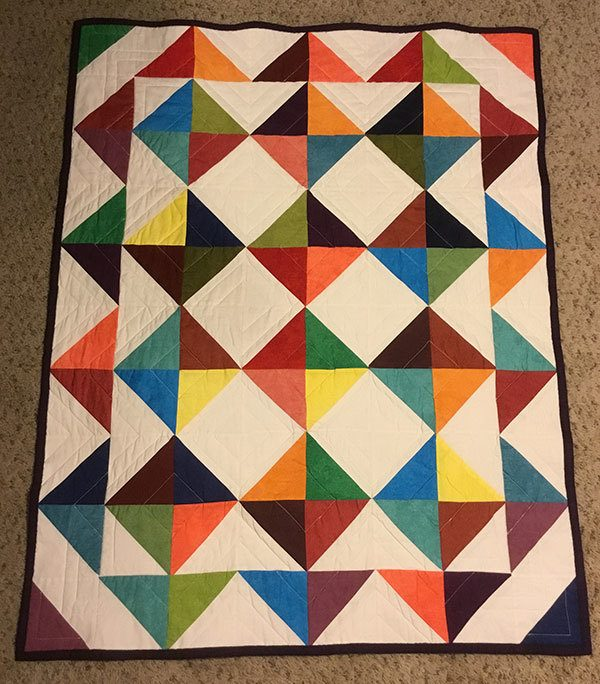 mike's-baby-quilt, quilting, readers project, craft, sewing