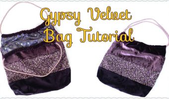 Velvet Gypsy Tote Bag Tutorial