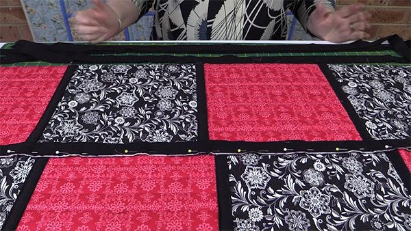 Sashing strips for quilting