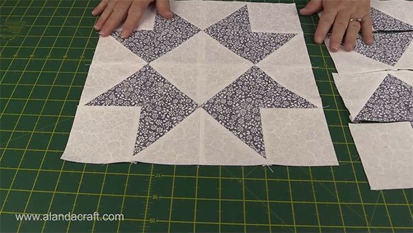 ribbon-star-quilt-block,quilting, quilt block, sewing,craft