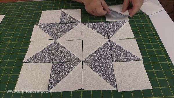 ribbon-star-quilt-block,quilt block, craft,sewing