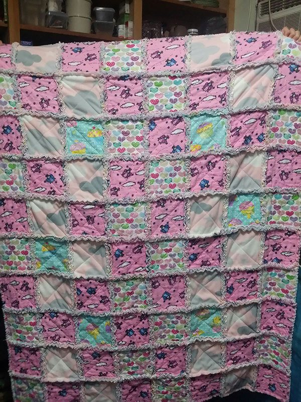 baby-rag-quilt,quilting-craft-sewing