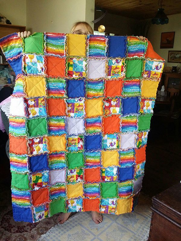 baby-rag-quilt,quilting,craft,sewing
