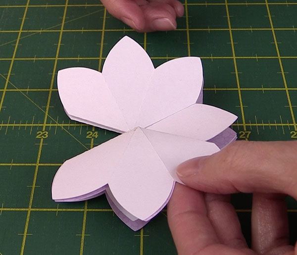 Brother scanncut blooming flower popup card tutorial alanda craft blooming pop up flower card tutorial brother scan n cut mightylinksfo