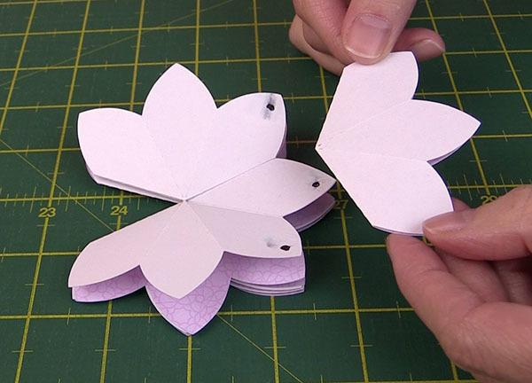 blooming pop up flower card tutorial, brother scan n cut