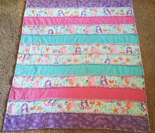 rag quilt, readers project, quilting, sewing, craft