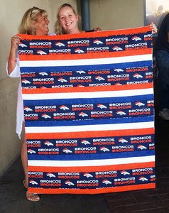 Readers Project: My First Quilt by Lisa – Go the Bronco's