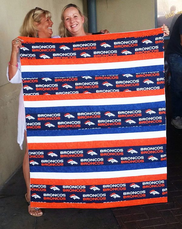 bronco's strip quilt, quilting readers project, beginners quilt