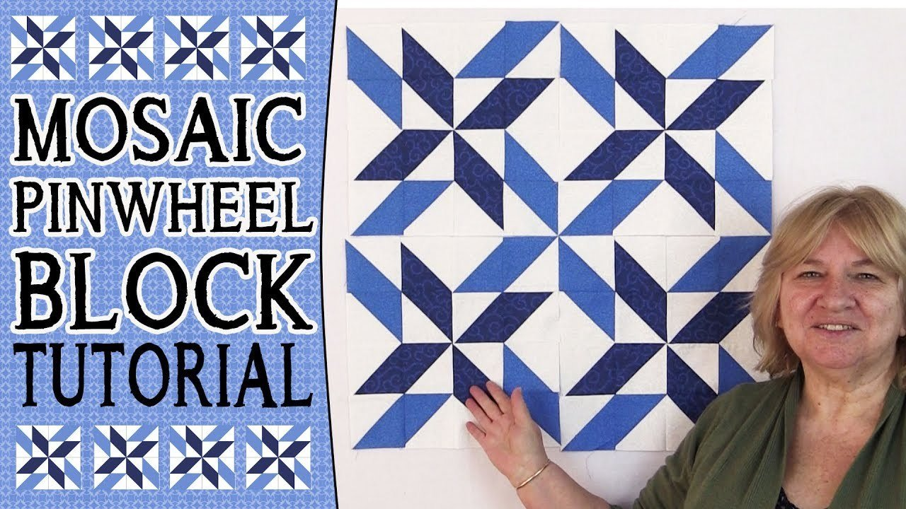 Quilting Block Tutorial: Mosaic Pinwheel Block