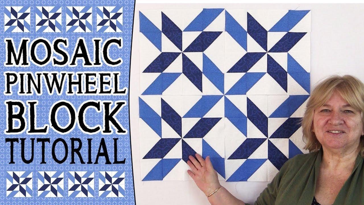 Quilting Block Tutorial: Mosaic Pinwheel Block
