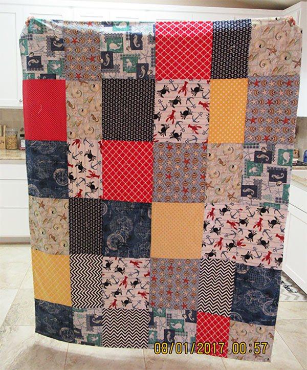lap quilt, nautical quilt, craft, sewing, quilting