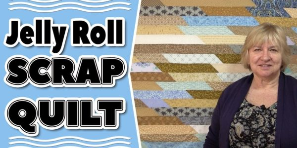 The Scrappy Stash Jelly Roll Race Quilt Variation