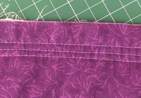 babylock sashiko stitch from the back
