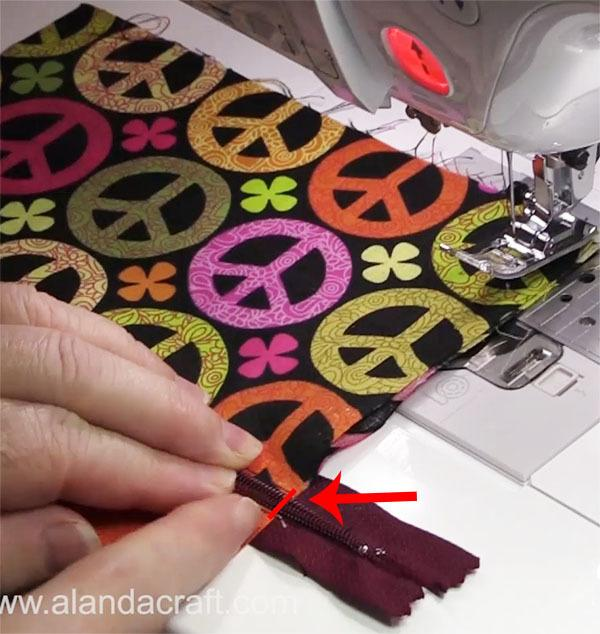 zippered purse step by step
