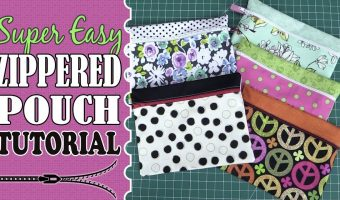 Super Easy Zippered Pouch Tutorial – (Zippered Purse)