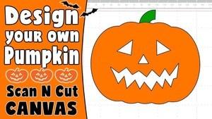 Brother ScanNCut Tutorial: Creating a Halloween Pumpkin in ScanNCut Canvas