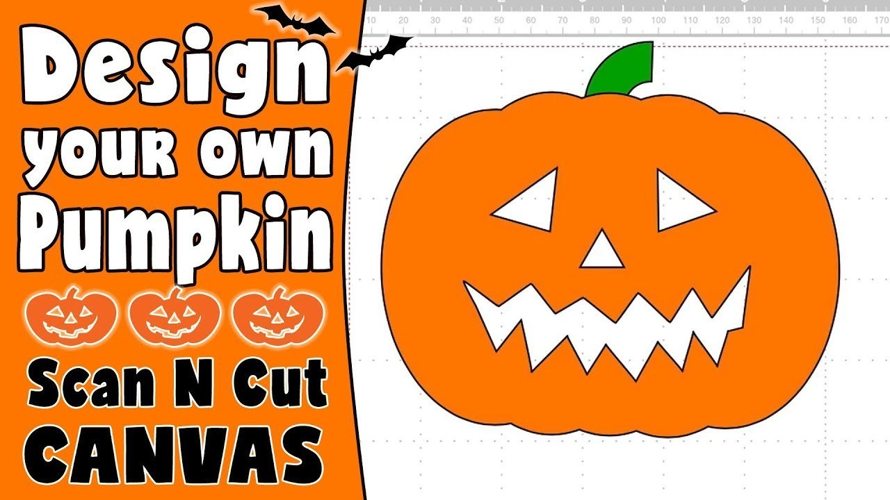 Brother ScanNCut Tutorial: Creating a Halloween Pumpkin in ScanNCut Canvas