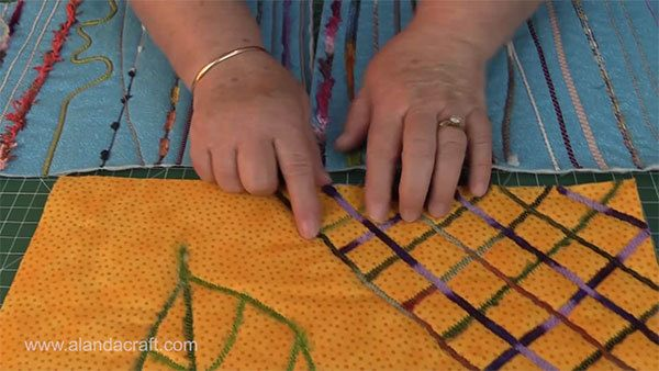 couching, quilting, sewing,
