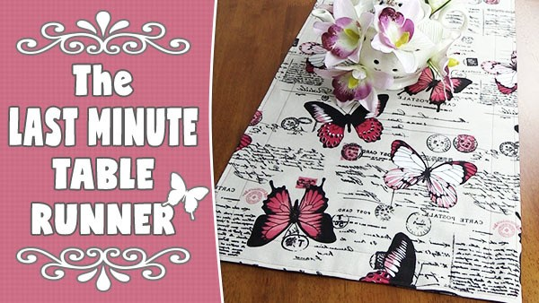 last minute table runner tutorial - quick and easy