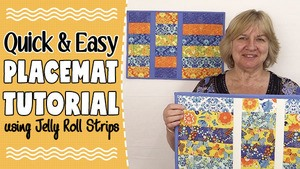 Quick & Easy Strip Placemat Tutorial Using Jelly roll Strips
