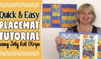 Placemat tutorial using jelly rolls - easy sewing project