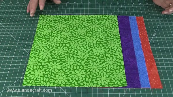 stack and slash quilt block