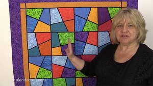 Stack & Slash Stained Glass Quilt Block,quilting,sewing, craft, quilt block