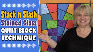 stack and slash quilt block tutorial,Stack & Slash Stained Glass Quilt Block,quilting,sewing, craft, quilt block