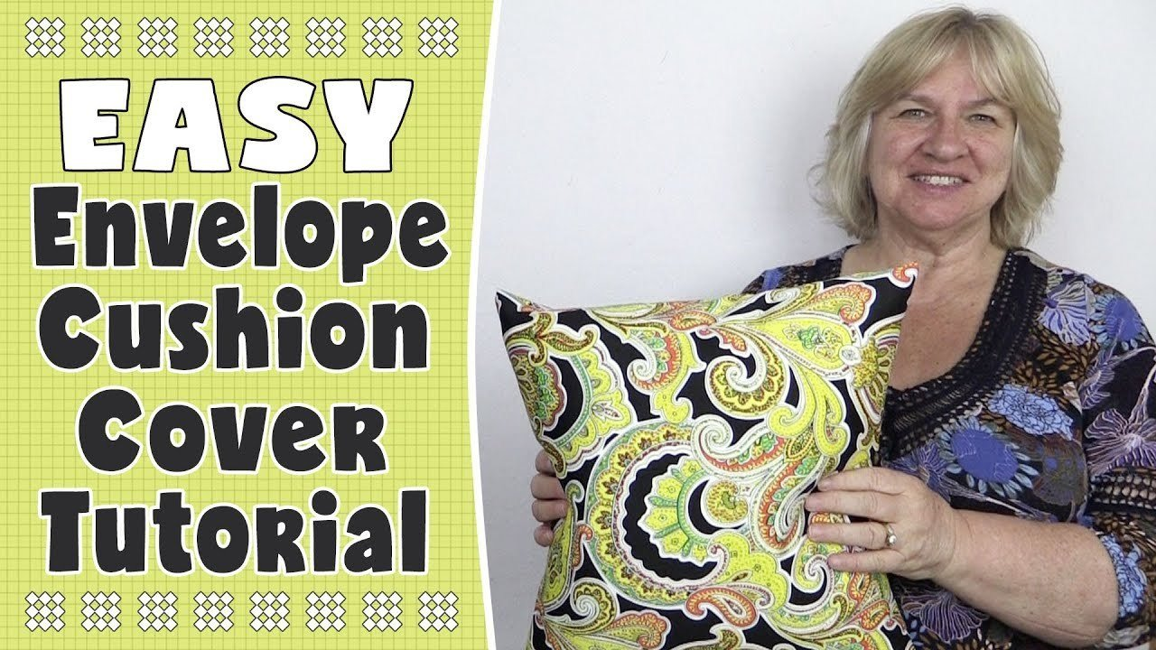 Envelope Cushion Cover from One Piece of Fabric – Easiest Cushion Cover Ever