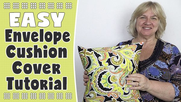 easy envelope cushion cover tutorial