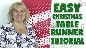 easy christmas table runner tutorial