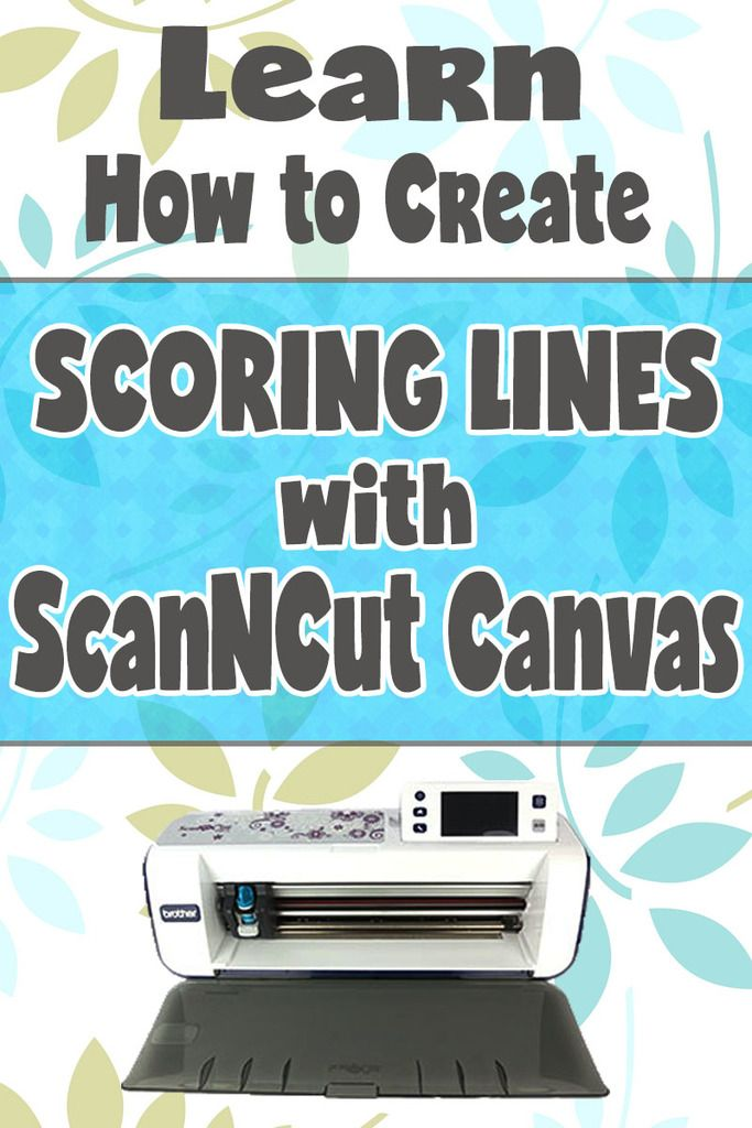 Learn how to Create Scoring Lines with ScanNCut Canvas - This is great for creating card templates!