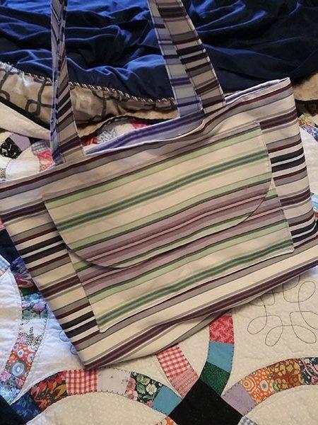 canvas tote bag, craft, sewing, tea towel bag, tea towel tote bag