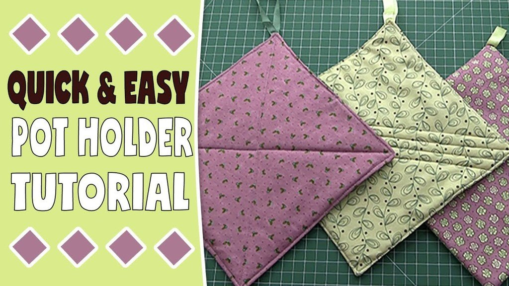 Pot Holder Tutorial - Easy Sewing Project to Sell